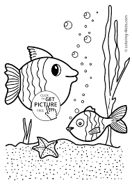 Small Picture Fish nature coloring page for kids printable free coloing 4kidscom