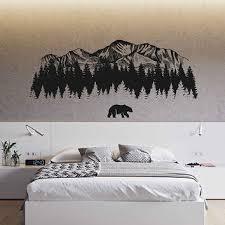 mountain wall decals bear wall decals woodland wall decals mount on bear wall art nursery with shop baby room decor bears on wanelo