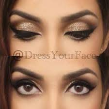 makeup for black and white dress photo 2