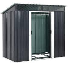 Gardebruk Metall Gerätehaus Gartenhaus 2m² 2 Fenster Schiebetür