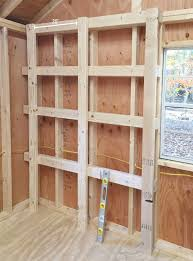 storage ideas for sheds shed storage ideas vertical supports added to wood shelves diy garage storage