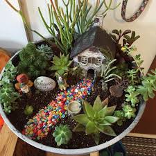 prev pinner this is the mini garden i did out of mostly succulents i combined last years fairy garden and the succulent pot i did at a class