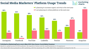 Social Media Usage Chart Social Media Marketing Update Preferred Platforms And
