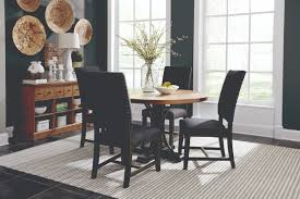 scott living bi dark grey dining room set includes dining table and two chairs