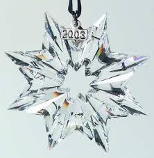 Swarovski 2003 Annual Christmas Snowflake Ornament Z