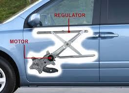 car door window regulator and motor