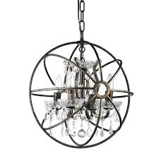 edvivi lighting 4 light antique bronze vintage cage fixture globe crystal chandelier
