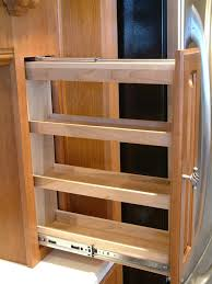 Pull Out Kitchen Storage Sliding Spice Rack Plans Fascinating Kitchen Cabinet Pull Out