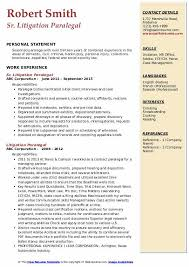 Litigation Paralegal Resume Samples Qwikresume