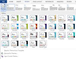 Word 2013 Themes The Ribbons Of Microsoft Word 2007 2019