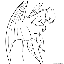 Get your free printable dragons coloring pages at allkidsnetwork.com. Light Fury Dragon Coloring Pages Printable