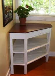 Small Corner Table With Shelves Mesmerizing Handcrafted Corner Table Solid Wood In 32 Tiny Homes Pinterest