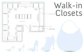 walk thru closet dimensions in with island design minimum layout standard bathrooms likable