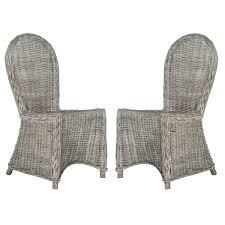 whitewash outdoor furniture. Safavieh Idola White Washed Dining Chairs (Set Of 2) Whitewash Outdoor Furniture