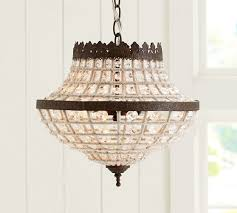 pottery barn chandelier for dalila beaded crystal plans 6