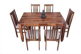 6 seater pencil dining table with upholstery chair