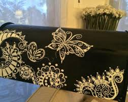 hand painted mailbox designs. Hand Painted Mailbox, Custom, Black And White, Whimsical Butterflies Swirls Mailbox Designs E