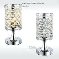 small crystal table lamp amazing led crystal table lamp modern minimalist round creative small regarding small