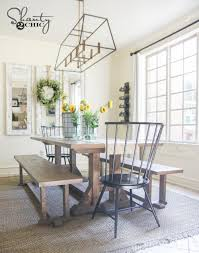 Farmhouse Dining Table Sets Diy Pottery Barn Inspired Dining Table For 100 Shanty 2 Chic