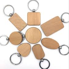 customize diy blank wooden key chain promotion rectangle heart round ellipse carving key ring wood key chain ring keychain photo keyrings from