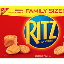 Ritz Crackers Nutrition Chart Calories In Ritz Crackers Family Size From Nabisco