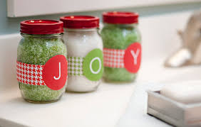 Decorative Jars For Bath Salts Spray paint the lids of canning jars and fill them with scented 44