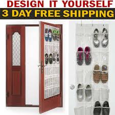 details about over the door shoe organizer rack hanging storage holder hanger bag closet