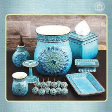 Beautiful And Elegant Bathroom Accessories In Peacock Blue! #annaslinens  #homedecor | Splish Splash | Pinterest | Bath Accessories, Bathroom And Bath