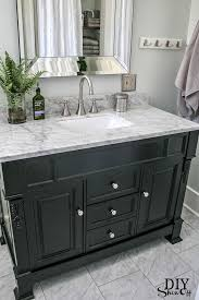 bathroom remodel black vanity. Brilliant Bathroom Huntshire Bathroom Vanity  DIY Showoff Website Impressive Remodel  From ICK To Ahhh Love This Marble Topped Vanity In Bathroom Remodel Black Vanity Pinterest