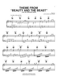 beauty and the beast sheet music theme from beauty and the beast sheet music for piano and more