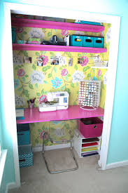 closet office desk. Fried Pink Tomato- Closet Converted To A Desk Space, Sewing Room, Craft Office Decor