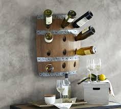 wine racks wooden wine rack wall mount barrel pottery barn mounted uk