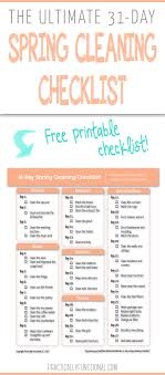 cleaning checklist the ultimate 31 day spring cleaning checklist free printable