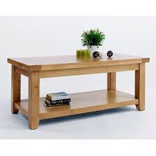 ina large oak coffee table with