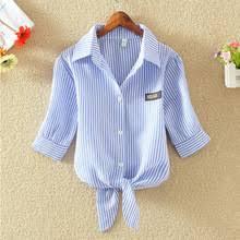 <b>Рубашка женская, в</b> полоску, большого размера - купить ...