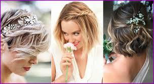 Incroyable Coiffure Mariage Avec Fleurs Cheveux Court 2018