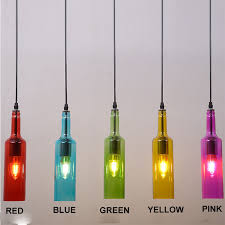 details about vintage glass pendant light fixture ceiling lamp hang lighting wine bottle color
