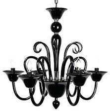chandelier black glass venetian modern chandeliers