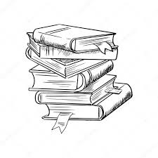 1024x1024 stack of books with bookmarks stock vector seamartini