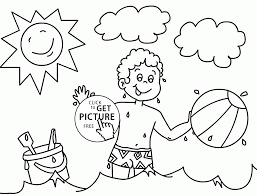 Small Picture Happy Time in Summer Sea coloring page for kids seasons coloring
