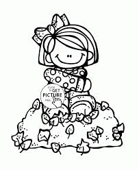 Small Picture Coloring Pages Fall Leaves And Girl Coloring Pages For Kids