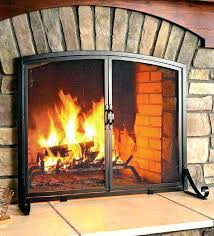 fireplace glass doors home depot full size of gas log fireplace glass doors open closed screen