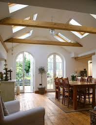 vaulted ceiling wood beams. Contemporary Ceiling A Vaulted Ceiling With Skylights And Wooden Beams Brings Rustic Feel  Light In With Vaulted Ceiling Wood Beams