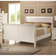 white wood full size bed  stealasofa furniture outlet los
