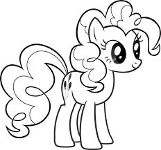 My Little Pony Pinkie Pie Coloring Coloring Page For Kids | Kids ...