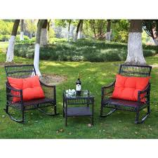 veikous dark brown outdoor patio wicker