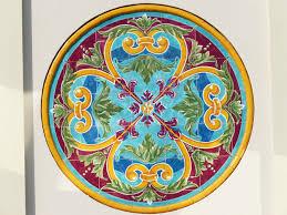 window glass pattern color plate circle painting ornament art design shape modern art dishware