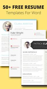 Word Resume Templates 2017 100 Free Resume Templates for MS Word Cv template Resume cv and 54