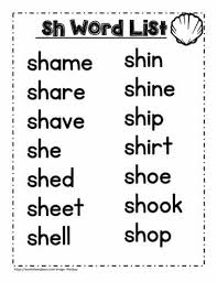The handwriting activities are for writing practice of the phoneme on its own and within words. A Sh Spelling List Worksheets