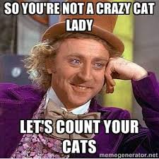 So you're not a crazy cat lady Let's count your cats - willy wonka ... via Relatably.com